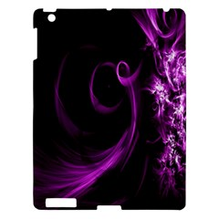 Purple Flower Floral Apple Ipad 3/4 Hardshell Case by Mariart