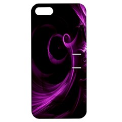 Purple Flower Floral Apple Iphone 5 Hardshell Case With Stand by Mariart