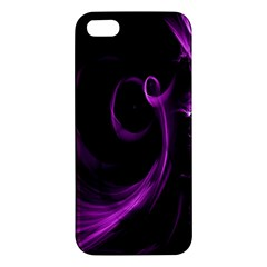 Purple Flower Floral Apple Iphone 5 Premium Hardshell Case by Mariart