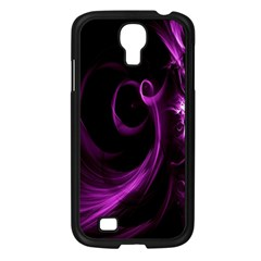 Purple Flower Floral Samsung Galaxy S4 I9500/ I9505 Case (black) by Mariart
