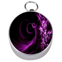 Purple Flower Floral Silver Compasses by Mariart