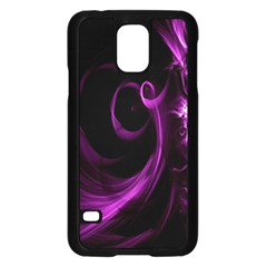 Purple Flower Floral Samsung Galaxy S5 Case (black) by Mariart