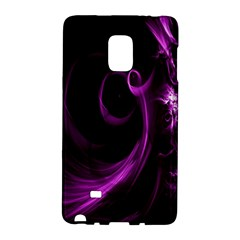 Purple Flower Floral Galaxy Note Edge by Mariart