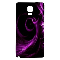 Purple Flower Floral Galaxy Note 4 Back Case by Mariart