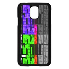 Repeated Tapestry Pattern Samsung Galaxy S5 Case (black)