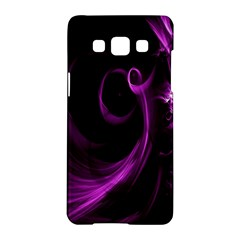 Purple Flower Floral Samsung Galaxy A5 Hardshell Case  by Mariart