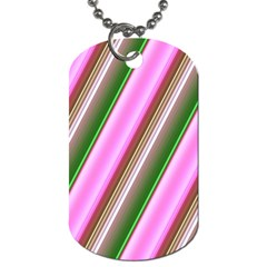 Pink And Green Abstract Pattern Background Dog Tag (two Sides) by Nexatart