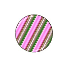 Pink And Green Abstract Pattern Background Hat Clip Ball Marker by Nexatart