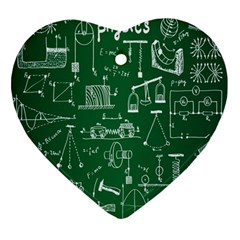 Scientific Formulas Board Green Ornament (heart) by Mariart