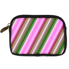 Pink And Green Abstract Pattern Background Digital Camera Cases by Nexatart