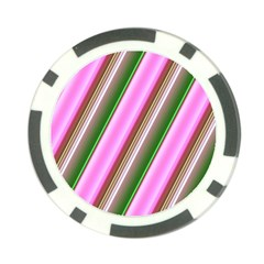 Pink And Green Abstract Pattern Background Poker Chip Card Guard (10 Pack) by Nexatart