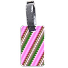 Pink And Green Abstract Pattern Background Luggage Tags (one Side)  by Nexatart