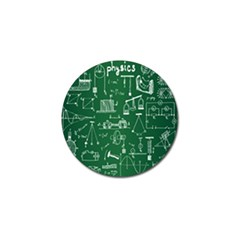 Scientific Formulas Board Green Golf Ball Marker (4 Pack) by Mariart