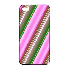 Pink And Green Abstract Pattern Background Apple Iphone 4/4s Seamless Case (black) by Nexatart