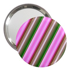 Pink And Green Abstract Pattern Background 3  Handbag Mirrors by Nexatart