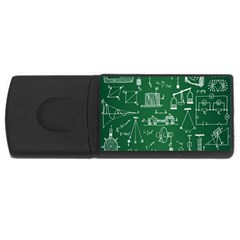 Scientific Formulas Board Green Usb Flash Drive Rectangular (4 Gb) by Mariart