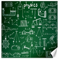 Scientific Formulas Board Green Canvas 20  X 20   by Mariart