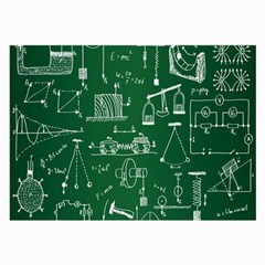 Scientific Formulas Board Green Large Glasses Cloth (2 Side) by Mariart