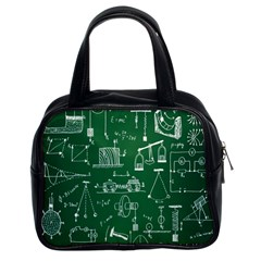 Scientific Formulas Board Green Classic Handbags (2 Sides) by Mariart