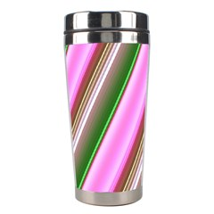 Pink And Green Abstract Pattern Background Stainless Steel Travel Tumblers by Nexatart