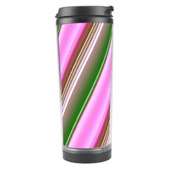 Pink And Green Abstract Pattern Background Travel Tumbler by Nexatart