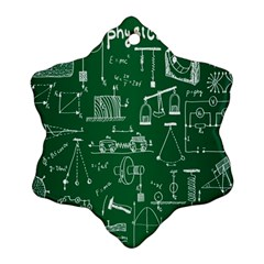 Scientific Formulas Board Green Snowflake Ornament (two Sides) by Mariart