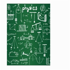 Scientific Formulas Board Green Large Garden Flag (two Sides)
