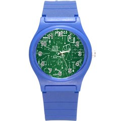 Scientific Formulas Board Green Round Plastic Sport Watch (s) by Mariart