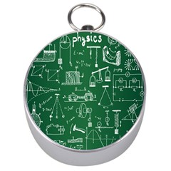 Scientific Formulas Board Green Silver Compasses by Mariart