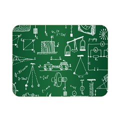 Scientific Formulas Board Green Double Sided Flano Blanket (mini)  by Mariart