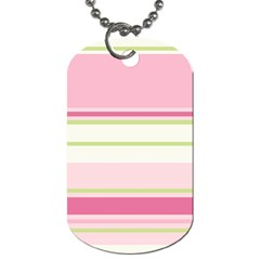 Turquoise Blue Damask Line Green Pink Red White Dog Tag (two Sides) by Mariart