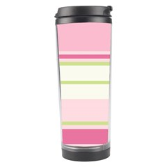 Turquoise Blue Damask Line Green Pink Red White Travel Tumbler by Mariart