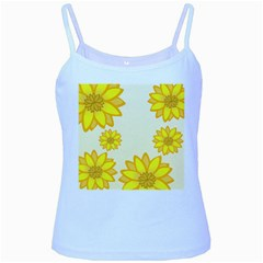 Sunflowers Flower Floral Yellow Baby Blue Spaghetti Tank by Mariart