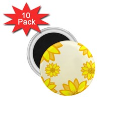 Sunflowers Flower Floral Yellow 1 75  Magnets (10 Pack)
