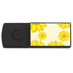 Sunflowers Flower Floral Yellow Usb Flash Drive Rectangular (4 Gb) by Mariart