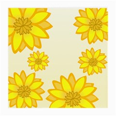Sunflowers Flower Floral Yellow Medium Glasses Cloth by Mariart