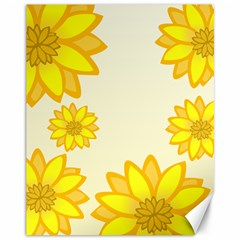 Sunflowers Flower Floral Yellow Canvas 11  X 14   by Mariart