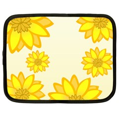 Sunflowers Flower Floral Yellow Netbook Case (xl)  by Mariart