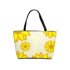 Sunflowers Flower Floral Yellow Shoulder Handbags by Mariart
