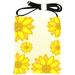 Sunflowers Flower Floral Yellow Shoulder Sling Bags by Mariart