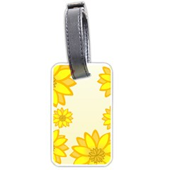Sunflowers Flower Floral Yellow Luggage Tags (two Sides) by Mariart