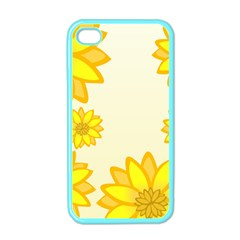 Sunflowers Flower Floral Yellow Apple Iphone 4 Case (color) by Mariart