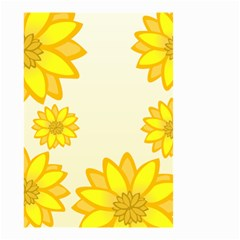 Sunflowers Flower Floral Yellow Small Garden Flag (two Sides) by Mariart