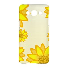 Sunflowers Flower Floral Yellow Samsung Galaxy A5 Hardshell Case  by Mariart