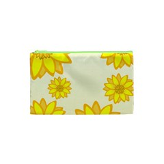 Sunflowers Flower Floral Yellow Cosmetic Bag (xs) by Mariart