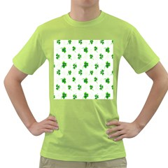 Leaf Green White Green T Shirt by Mariart