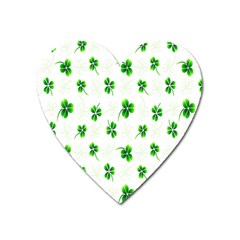 Leaf Green White Heart Magnet by Mariart