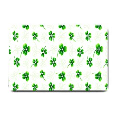 Leaf Green White Small Doormat  by Mariart