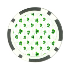 Leaf Green White Poker Chip Card Guard by Mariart