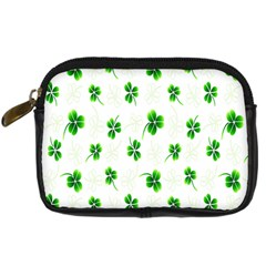 Leaf Green White Digital Camera Cases by Mariart